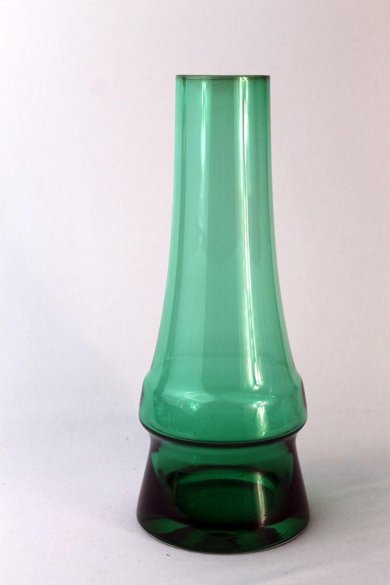 Scandinavian Riihimaki Triple Hoop Vase By Tamara Aladin 1970s Glass Sweden.