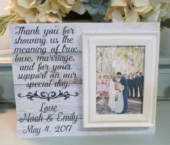 Wood Wedding Frame Thank you for showing us the meaning | Etsy