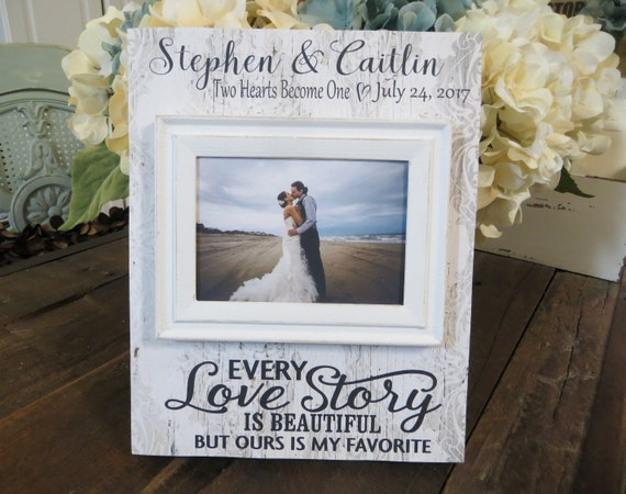 Wood Wedding Frame Every Love Story is Beautiful But | Etsy
