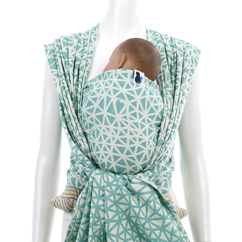 564f421110dc8 Woven Baby Wrap - Daiesu Sweetheart Emerald - infant carrier, newborn gift,  green, woven wrap for baby wearing, gift for new mom, organic
