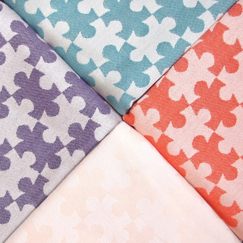 newborn essential purple Ring Sling Baby Carrier Daiesu Jigsaw Indigo infant carrier gift for new mom Organic Baby sling