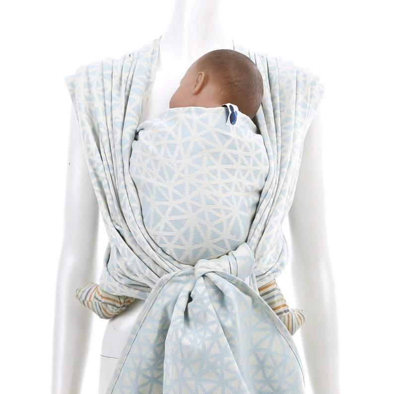 873f2ed23abb5 Woven Baby Wrap - Daiesu Sweetheart Sky - infant carrier, baby blue,  newborn gift, present for new mom, organic woven wrap, babywearing