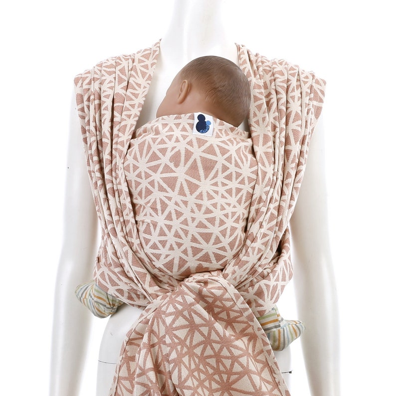 669f0c69cbd32 Woven Baby Wrap - Daiesu Sweetheart Rose Gold - infant carrier, gift for  new mom, woven wrap for babywearing, newborn essential, baby sling