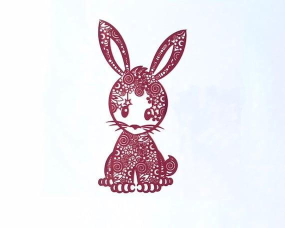 Cartoon Bunny Iron On T Shirt Heat Transfer Vinyl HTV Sticker 12 Colours