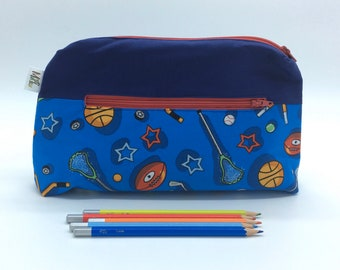 Pencil case, Pocket for pencils, Cosmetic Bag, Storage pouch **Customizable**