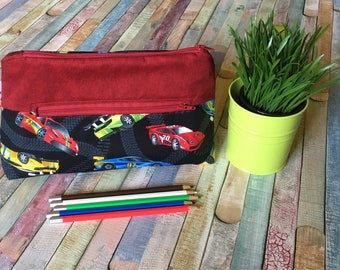Car pencil case, Pocket for pencils, Cosmetic Bag, Storage pouch