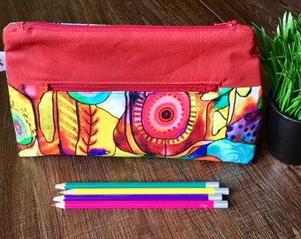 Pencil case, Pocket for pencils, Cosmetic Bag, Storage pouch