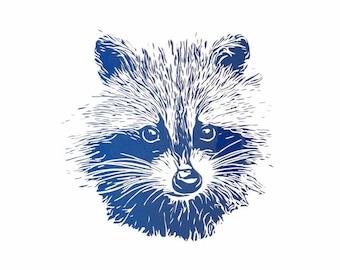 Raccoon heat transfer vinyl decal for clothing, HTV decal, Iron-on decal for clothing, Heat transfer vinyl for bag