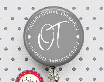OT is my Jam Vinyl Record Occupational Therapy Therapist OT Retractable ID Badge Reel Clip
