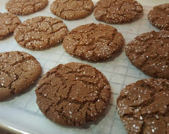 Old fashioned Molasses Cookies  1 Dozen Gourmet