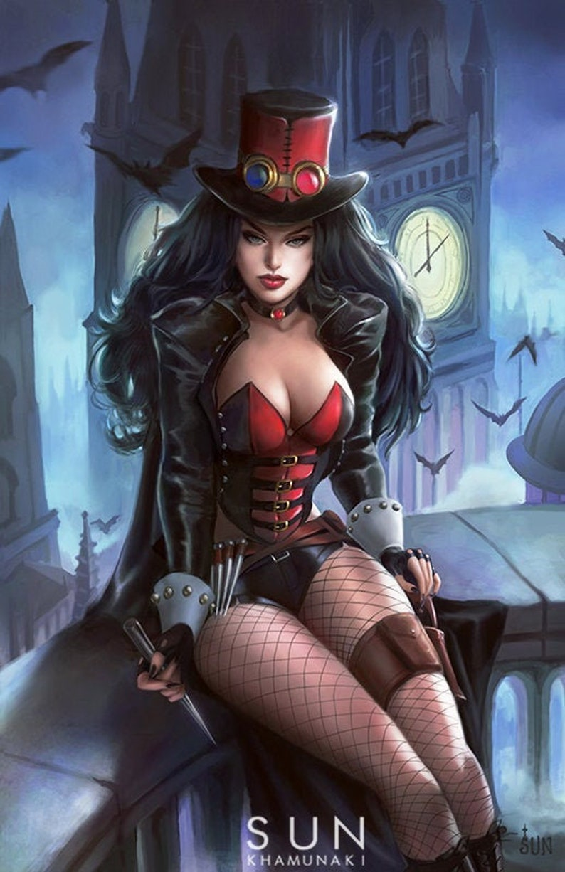 Van Helsing Zenescope Art Print Comic Cover Steampunk