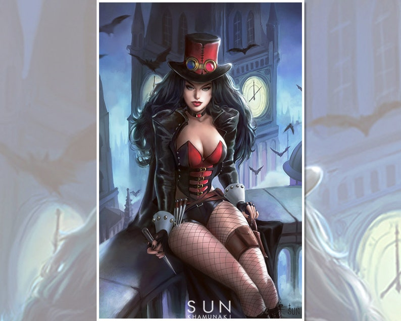 Van Helsing Zenescope Art Print Comic Cover Steampunk