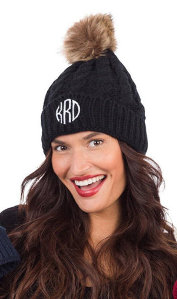 Monogrammed Winter Hat Personalized Hat Monogrammed Beanie