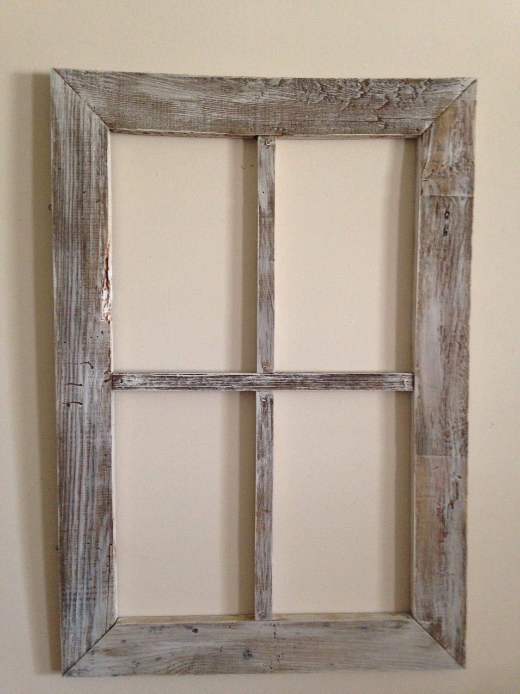 Old Weathered Wood Lg 4 Panel Window Etsy
