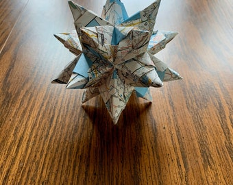 US Map Origami