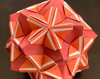 Kusudama-Red and Orange
