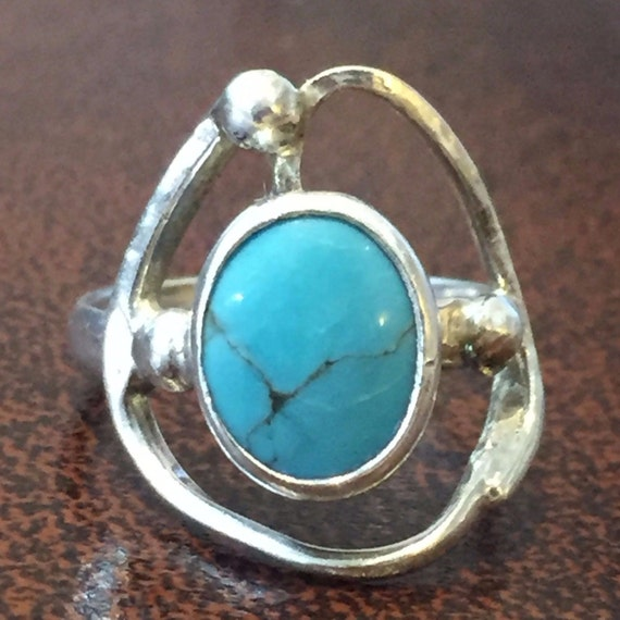 Sterling Silver Rings /  Turquoise Rings / Vintage
