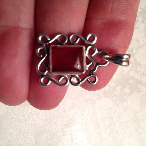 Vintage Necklaces / Carnelian Necklaces / Sterling
