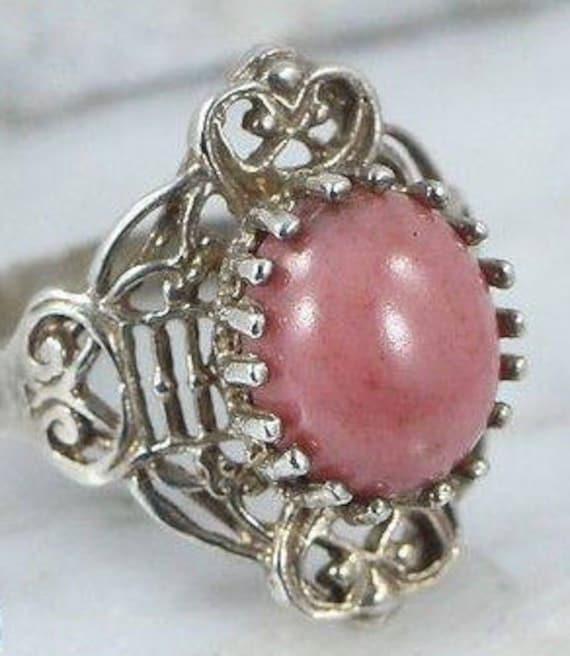 Sterling Silver Rings / Rhodochrosite Rings / Ring