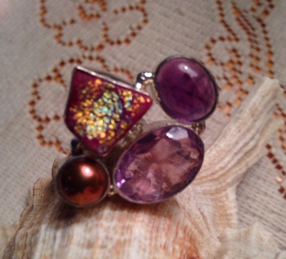 Amethyst Rings / Druzy Rings / Multistone Rings /