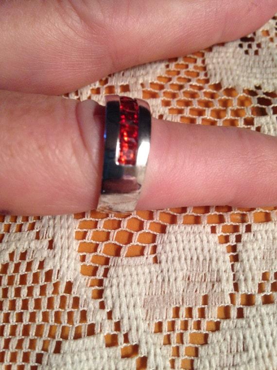 Garnet Rings / Vintage Rings /Multistone Rings / S