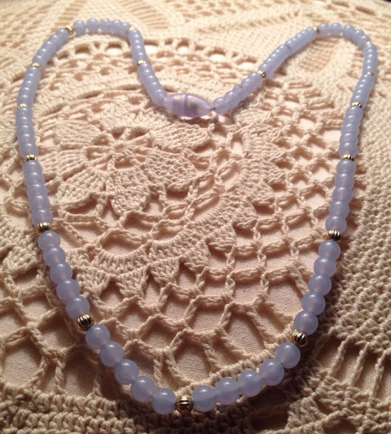 Vintage Necklaces / Avon Necklaces / Blue Quartz N