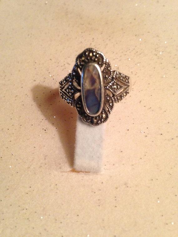 Abalone Rings / Vintage Rings / Multistone Rings /