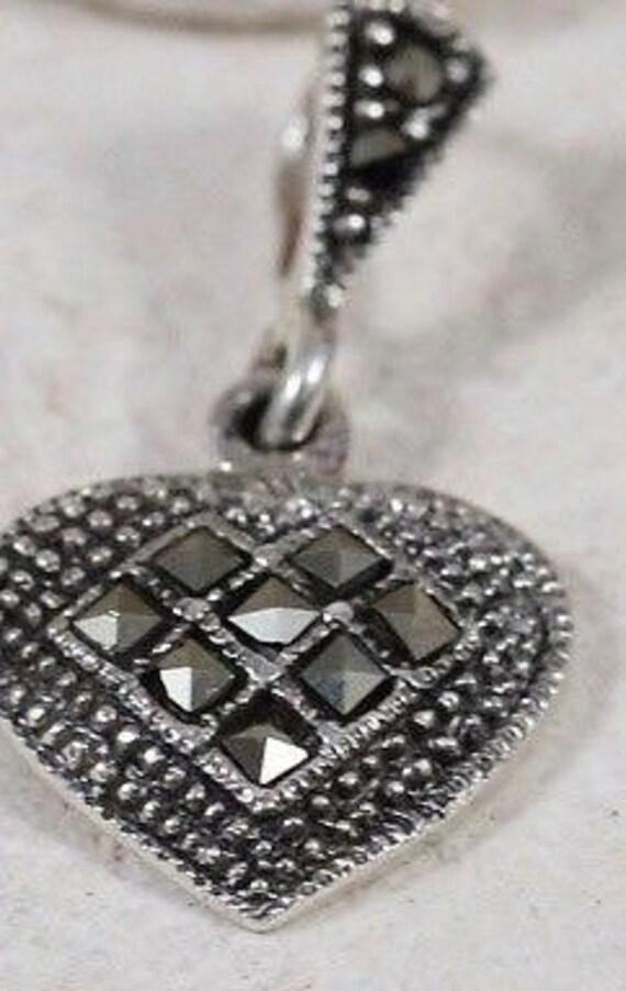 Heart Necklaces / Silver Necklaces / Marcasite Nec