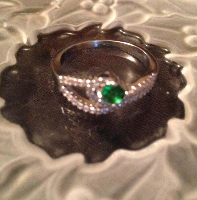 Artisan Rings  Multistone Rings  Green Quartz Rings   Ring Size 7.75  Birthstone Rings Item#ER210