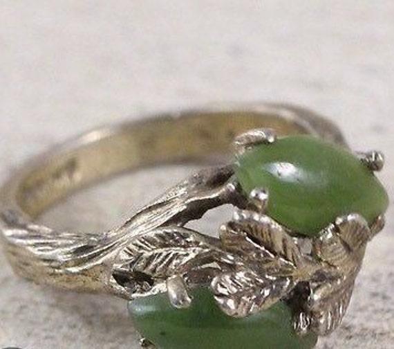 Aventurine Rings / Stone Rings / Vintage Rings / R
