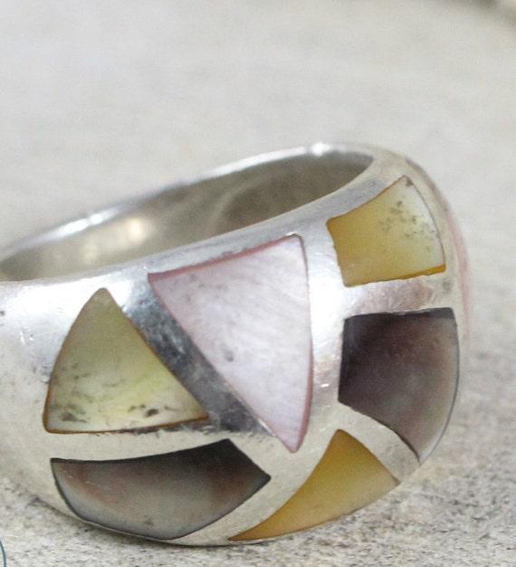 Vintage Rings / Sterling Silver Rings / Pearl Ring