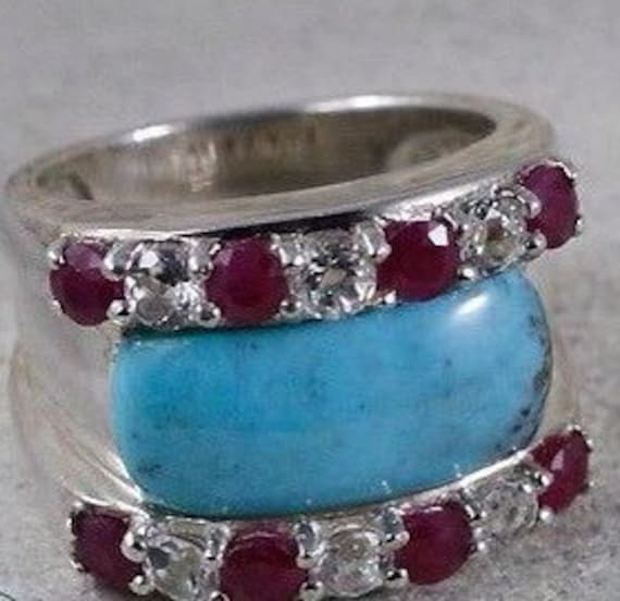 Vintage Rings / Turquoise Rings / Sterling Silver