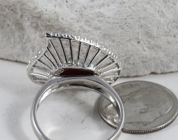 Sterling Silver Rings / Heart Rings / Vintage Rin… - image 2