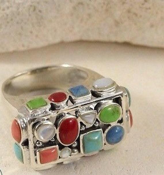 Vintage Rings / Multistone Rings / Turquoise Rings