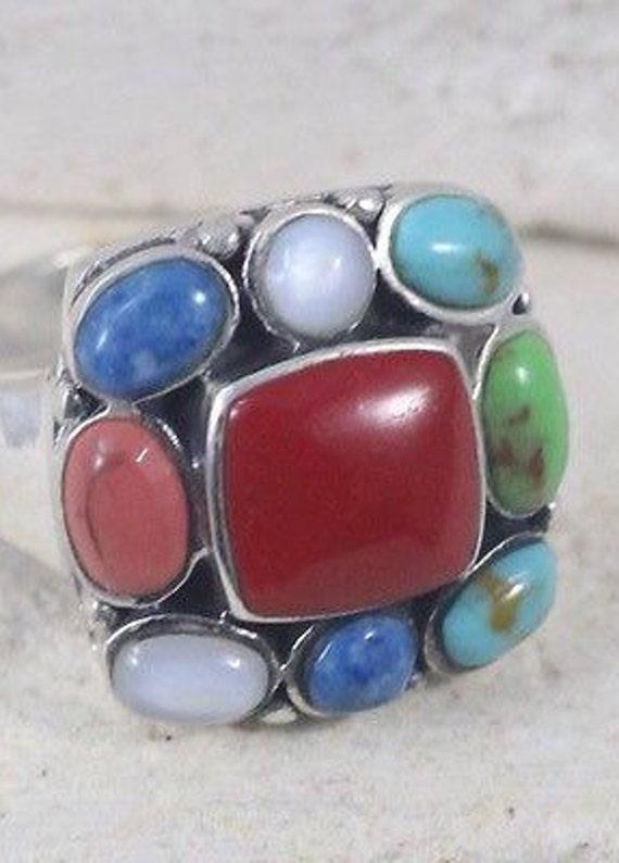 Turquoise Rings / Vintage Rings / Multistone Rings