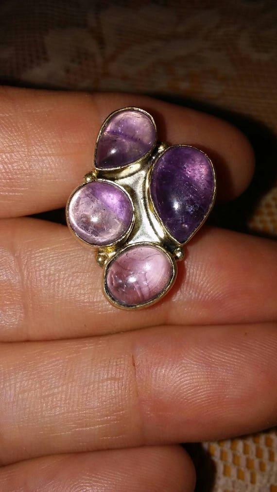Sterling Silver Rings / Vintage Rings / Amethyst R