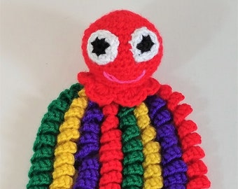 Red Amigurumi Octopus, Red Crochet Octopus, Crochet Jellyfish