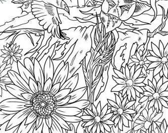 SINGLE PDF COLORING Page - Scarecrow