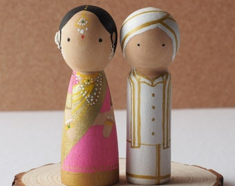 Wedding Cake topper - Peg dolls