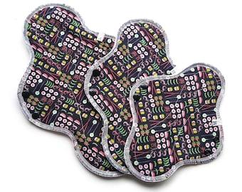 I Love Sushi! Cotton Cloth Pads ~ Cloth Pad Sets, Reusable Cloth Pads, Reusable Menstrual Products, Sanitary Napkins, Cloth panty Liners