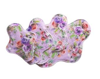 Vintage Roses ~ watercolor ~ Minky Cloth Pads, Mama Cloth, Menstrual Pad, Cloth Menstrual Pad, Incontinence Pad, Reusable Cloth Pad, floral