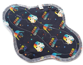 Retro Rainbow, Cotton Cloth Pads, Cloth Pad Sets, Reusable Cloth Pads, Reusable Menstrual Products, Sanitary Napkins, Cloth panty Liners
