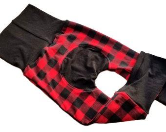 Buffalo Plaid~ Gifts for Kids ~ Christmas Pajamas ~ 3T ~ Toddler Leggings, Baby Leggings, Baby Maxaloones, Grow With Me Pants, Maxaloones