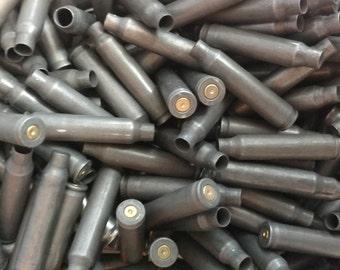 223 Steel Bullet Casings! Set of 25. Dark Steel Tone! Empty Spent Ammo Cartridge Shells