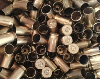 45 Caliber Bullet Casings! Gold Tone, Polished and Shined, You Pick Quantity! Empty Spent Ammo Cartridge Shells