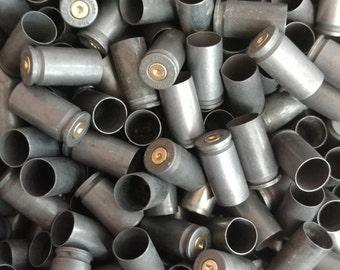 9mm Steel Bullet Casings! Set of 10. Dark Steel Tone! Empty Spent Ammo Cartridge Shells