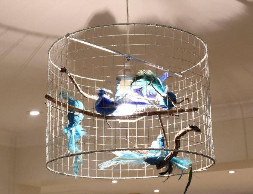 Birdcage pendant light unique chandelier custom light bird light birdcage pendant light unique chandelier custom light bird light cage pendant light aloadofball Image collections