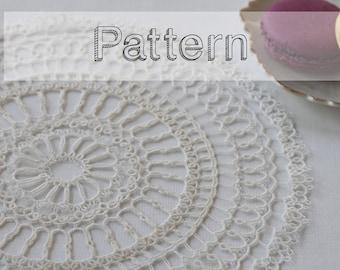 Doily tatting pattern - placemat pattern needle tatting lace  - grand napperon - shuttle tatting or needle tatting tatting pattern frivolity