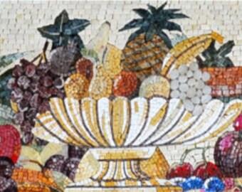 Mattonelle di mosaico di frutta etsy