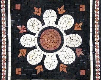 Greco-Roman Flower Mosaic